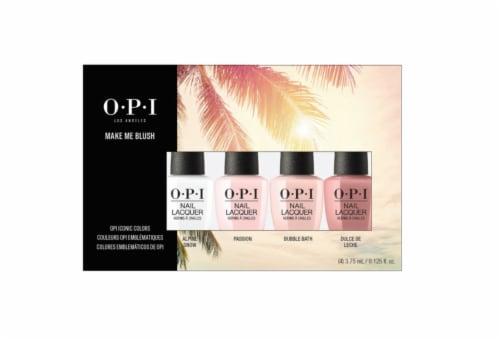 OPI Iconic Mini Pack Make Me Blush Nail Polish Set Perspective: front
