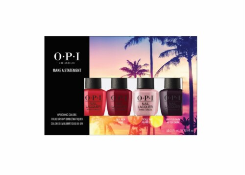 OPI Iconic Mini Pack Make a Statement Nail Polish Set Perspective: front