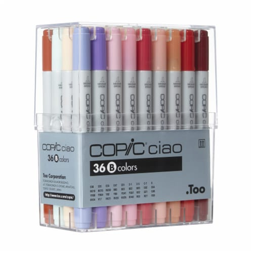 Copic Ciao 36-Color Set B Marker Set Perspective: front