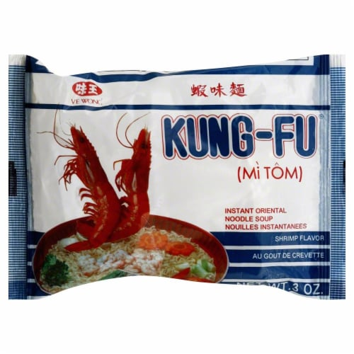 Kung-Fu Shrimp Noodles Perspective: front