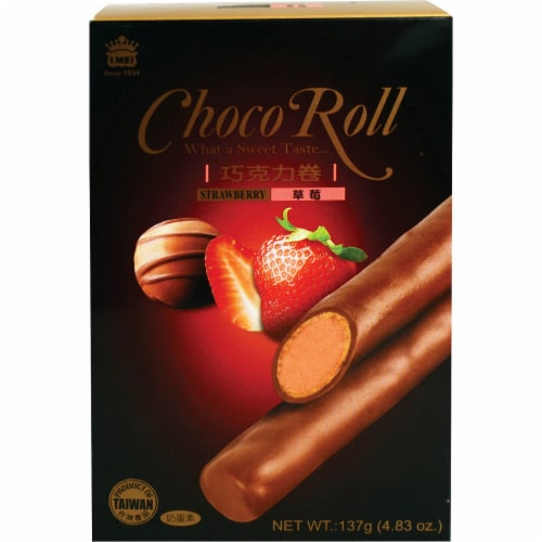 I Mei Strawberry Choco Roll Sticks Perspective: front