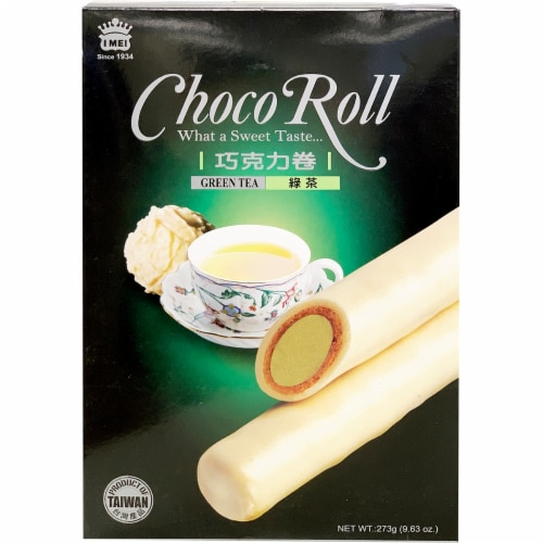 I-Mei Green Tea Flavored Choco Roll Perspective: front