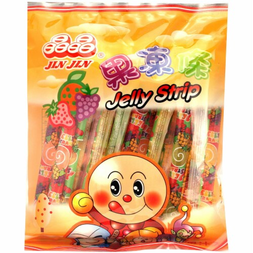 Jin Jin Jelly Strip Candy Perspective: front