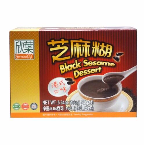 Formosa Yay Black Sesame Dessert Perspective: front