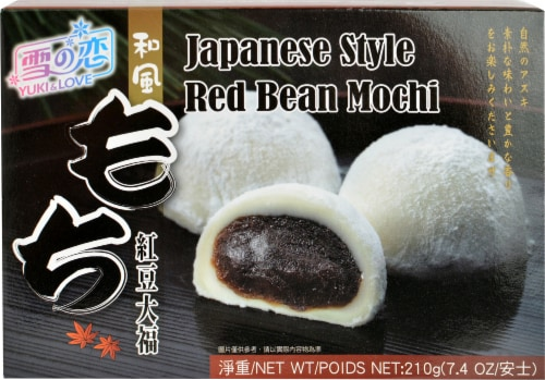 Yuki Love Japanese Red Bean Mochi Perspective: front