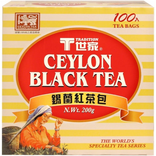 Tradition Ceylon Black Tea Bags Perspective: front