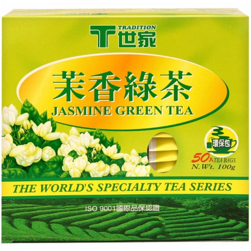 Tradition Jasmine Green Tea Bags Perspective: front