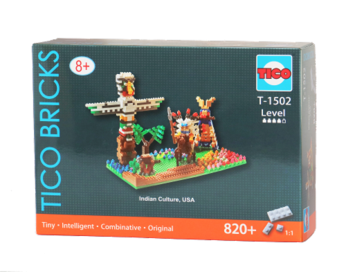 TICO Indian Culture Micro Building Blocks Set Perspective: front