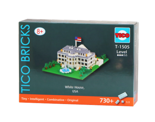 TICO White House Micro Building Blocks Set Perspective: front