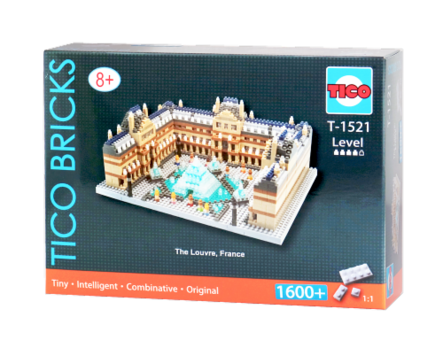 TICO The Louvre Micro Building Blocks Set Perspective: front