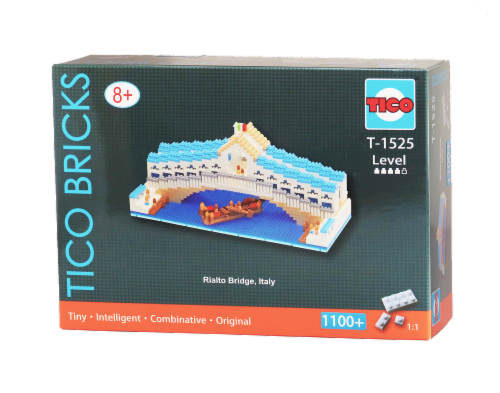 TICO Rialto Bridge Micro Building Blocks Set Perspective: front