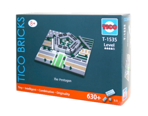 TICO The Pentagon Micro Building Blocks Set Perspective: front