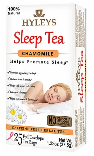 Hyleys Chamomile Sleep Tea Perspective: front