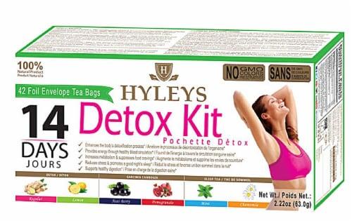 Hyleys Tea Detox Kit Perspective: front