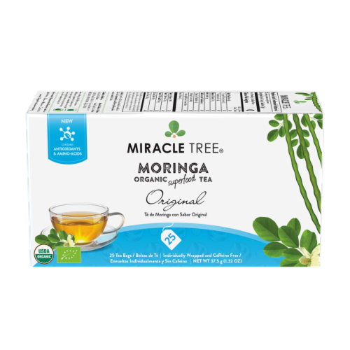 Miracle Tree Organic Original Moringa Tea Bags Perspective: front