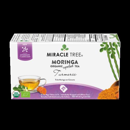Miracle Tree Organic Moringa Turmeric Tea Perspective: front