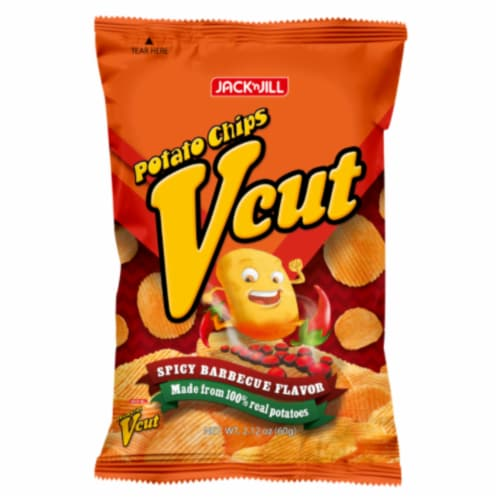 Jack 'n Jill Spicy Barbecue Vcut Potato Chips Perspective: front