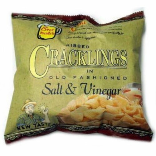 Oishi Salt & Vinegar Cracklings Perspective: front