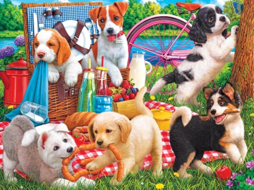 CRA-Z-ART Kodak Puppies on a Picnic Puzzle Perspective: front