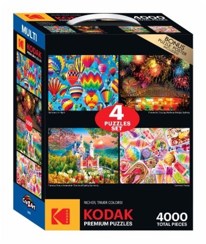 CRA-Z-ART Kodak Puzzle Multipack Perspective: front
