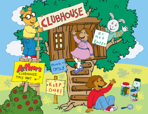 CRA-Z-ART Arthurs Clubhouse and Friends Puzzle Perspective: front