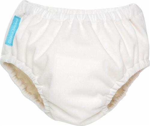 Charlie Banana Reusable Swim Diaper Medium - White Perspective: front