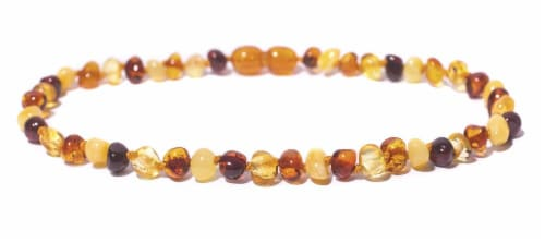 "Charlie Banana  Amber Necklace 13"" Boroque - Polish Multi P Perspective: front"