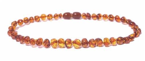 "Charlie Banana  Amber Necklace 11"" Boroque - Polish Cognac P Perspective: front"