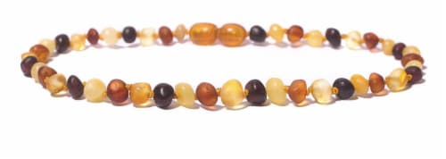 "Charlie Banana  Amber Necklace 11"" Boroque - Raw Multi P Perspective: front"