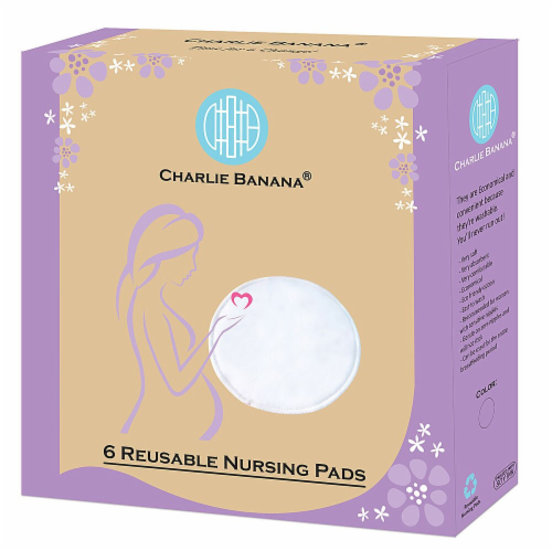 Charlie Banana  Reusable Nursing Pads - White Perspective: front