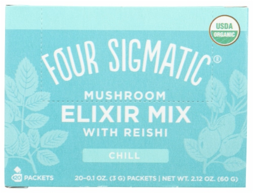 Four Sigmatic Chill Mushroom Elixir Mix with Reishi Perspective: front