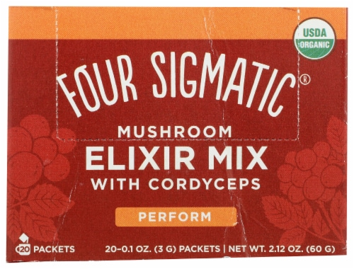 Four Sigmatic Perform Mushroom Elixir Mix with Cordyceps Perspective: front