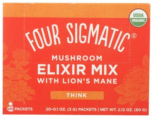 Four Sigmatic Think Mushroom Elixir Mix with Lion's Mane Drink Mix Perspective: front