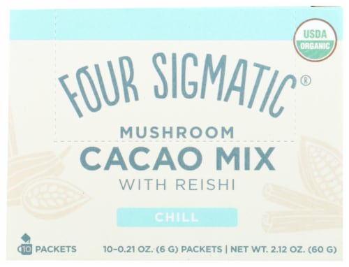 Four Sigmatic Mushroom with Reishi Cacao Mix Perspective: front