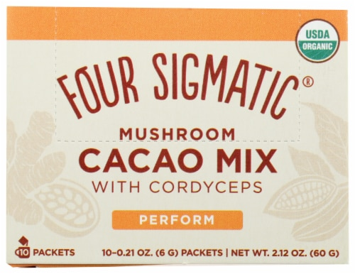 Four Sigmatic Perform Mushroom Cacao Mix with Cordyceps Perspective: front
