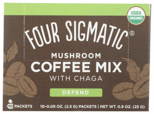 Four Sigmatic Cordyceps & Chaga Mushroom Coffee Mix Packets Perspective: front