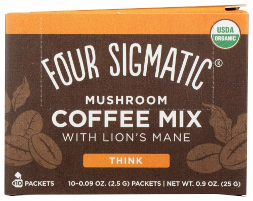 Four Sigmatic Lion's Mane & Chaga Mushroom Coffee Mix Packets Perspective: front