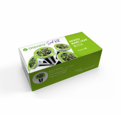 Aspara Mixed Baby Leaf Seed Capsule Kit Perspective: front