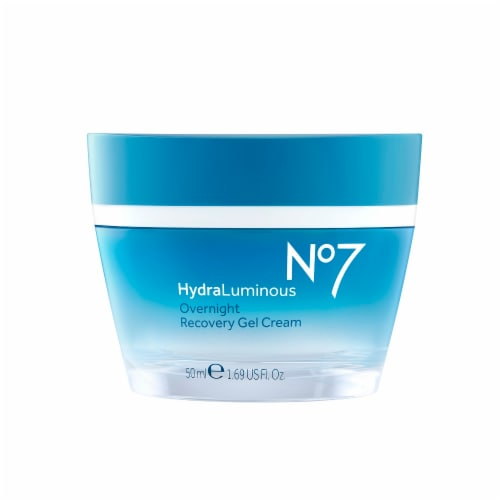 No7 HydraLuminous Overnight Recovery Gel Cream Perspective: front