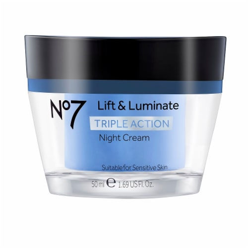 No7 Life & Luminate Triple Action Night Cream Perspective: front