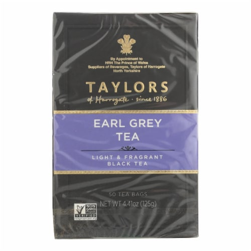 Taylors Of Harrogate Earl Grey Tea Bags  - Case of 6 - 50 BAG Perspective: front
