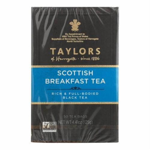 Taylors Of Harrogate Scottish Breakfast Tea Bags - Case of 6 - 50 BAG Perspective: front