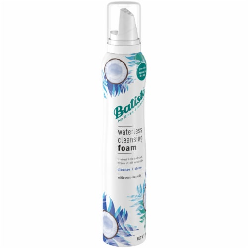 Batiste No Rinse Shampoo Waterless Coconut Milk Cleansing Foam Perspective: front