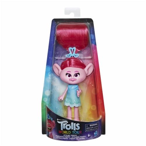 Hasbro DreamWorks Trolls World Tour Stylin' Poppy Doll Perspective: front