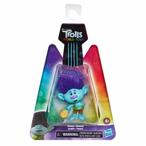 Hasbro Trolls World Tour Branch Doll Perspective: front