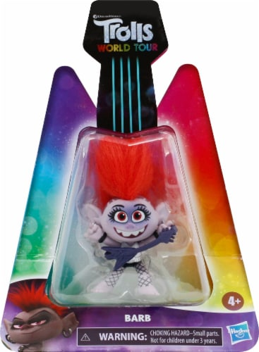 Hasbro DreamWorks Trolls World Tour Barb Doll Perspective: front