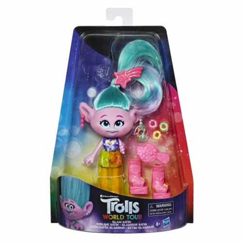 Hasbro DreamWorks Trolls World Tour Glam Satin Doll Perspective: front