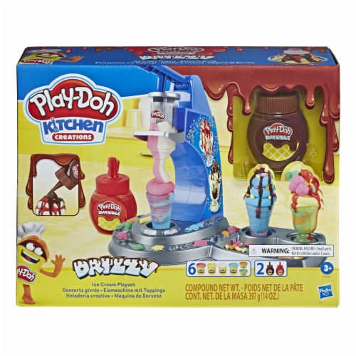 Play-Doh Kitchen Creations Drizzy Ice Cream Playset Perspective: front