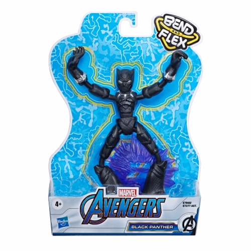Hasbro Marvel Avengers Bend and Flex Black Panther Action Figure Perspective: front