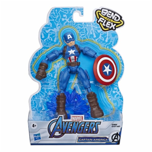 Hasbro Marvel Avengers Bend and Flex Captain America Action Figure Perspective: front